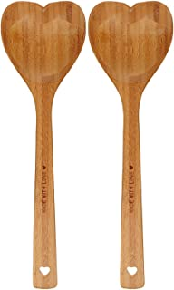 DCI Bamboo Heart Shaped Wooden Spoon 2 Pack