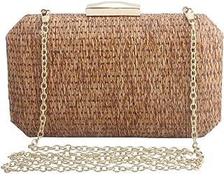 LETODE Women Rattan Bag straw woven Evening Bags Purses Clutch Vintage Banquet Handbag cross-body bag …