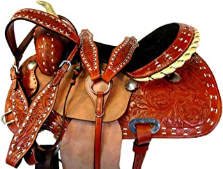 16 15 Trail Saddle Western Horse Floral Tooled Pleasure Show Leather Package