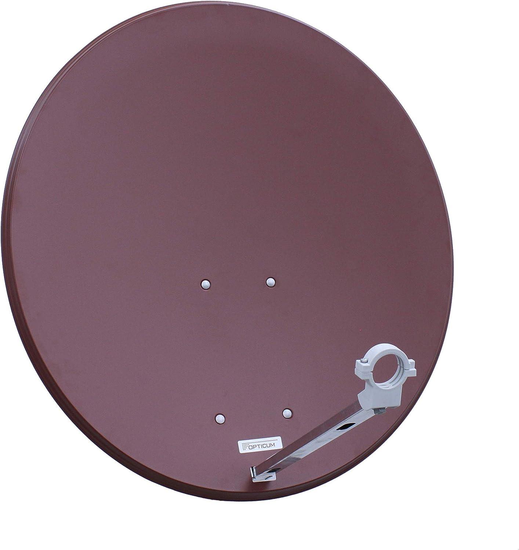 Opticum Qa80 Sat Antenne Stahl Farbe Ziegelrot Ohne Elektronik