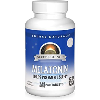 Source Naturals Sleep Science Melatonin 5 mg Helps Promote Sleep - 240 Tablets