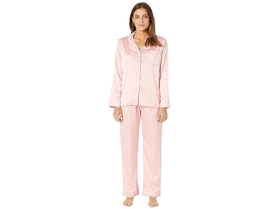 Coobie Undie Couture by Coobie Satin Pajama Set (Pink) Women