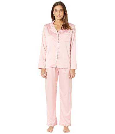 Coobie Undie Couture by Coobie Satin Pajama Set (Pink) Women