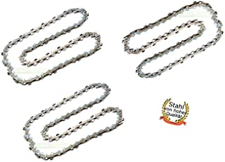 perfektGarten 3 cadenas de sierra de 35 cm; 1,3 mm; 3/8 pulgadas; 50 TG adecuadas para motosierra Stihl Husqvarna, Fuxtec, Einhell, Florabest, Grizzly.