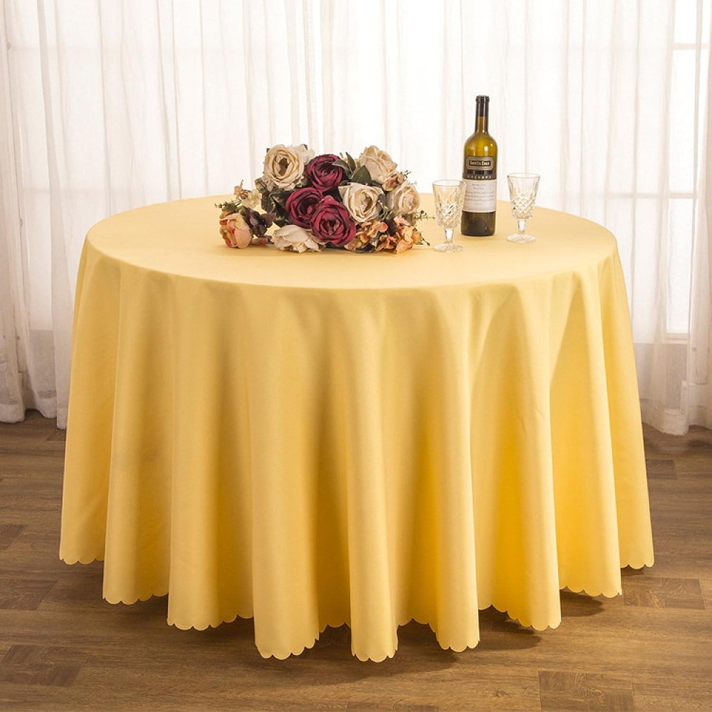 DONG Tischtuch Tischdecke Stoff Tee Tischdecke Hotel Restaurant Polyester Tischdecke Konferenztisch Rock Hochzeit Jacquard Runde Tischdecke Öl-Besteändig Leicht zu reinigen (Farbe   J, größe   260cm) B07CSP73GN Nutzen Sie Materialien