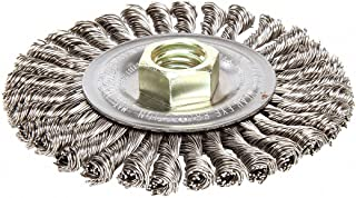 0.014 5//8-11 UNC 12500 rpm 4 1//2 Diameter x 3//8 Width 0.014 4 1//2 Diameter x 3//8 Width Weiler 804-13456 Standard Twist Knot Wire Bevel Wheel