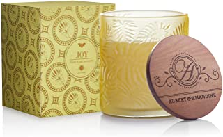 Joy - Ylang Ylang Mandarin Luxury Floral Scented Soy Candle for Stress Relief & Relaxation High Intensity Aromatherapy Pas...