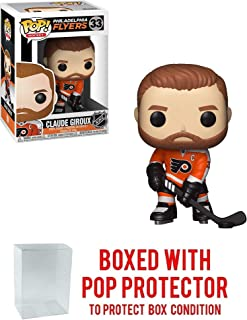 POP! Sports NHL Philadelphia Flyers Claude Giroux #33 Action Figure (Bundled with Pop Box Protector to Protect Display Box)