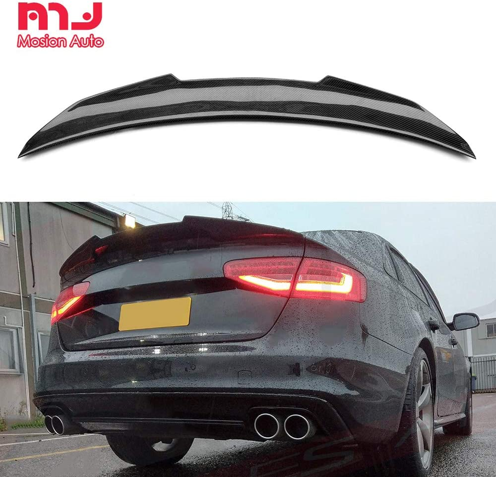 For Audi S4 B8.5 Sedan 2013-2016 Rear Boot Spoiler Wing Lip Refit Carbon Fiber