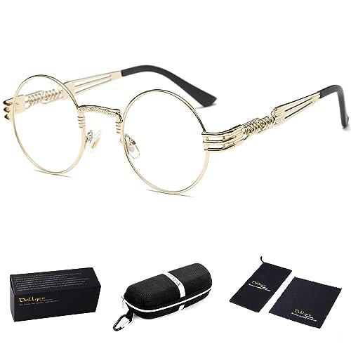 52d574702248 Dollger John Lennon Round Sunglasses Steampunk Metal Frame