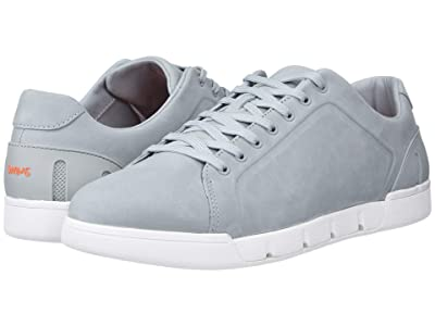 SWIMS Breeze Tennis Leather (Quarry/White) Men