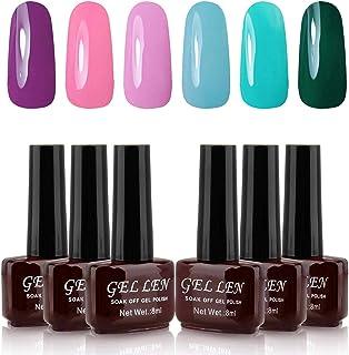 Gellen UV Gel Nail Polish Kit 6 Vibrant Colors Summer Popular Colors - 0.27 fl ozEach Manicure Salon Nail Gel Set