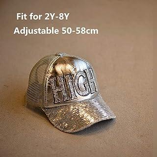 YUGUO Sombrero para El Sol Chicos Ajustables para Niños/Niñas Gorra De Brillo Sombreros De Alta Moda Niños Verano Sombreros De Sol