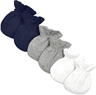 Baby Girls' Mittens, No-Scratch Mitts, 100% Organic Cotton, Set of 3