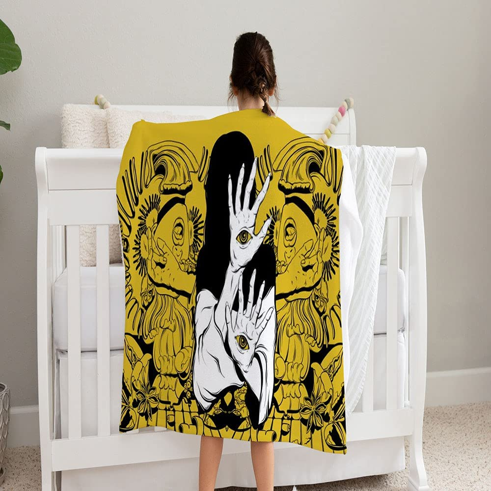LPVLUX Vector Hand Drawn Screaming Super Blanket Columbus Mall Girls Soft and Low price
