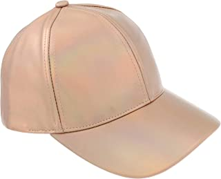Ladies Solid PU Baseball Hat