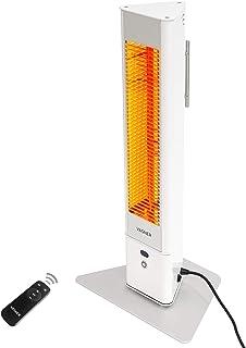 VASNER HeatTower Mini - radiador Infrarrojos Exterior pequeño, 1500 W, Calefactor electrico de pie, con Control Remoto, 4 Niveles de Calor, protección IP65, Metal, Blanco