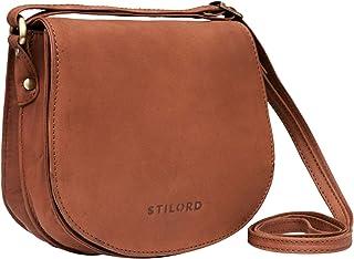 STILORD 'Lilly' Kleine Leder Tasche Damen Vintage Umhängetasche Handtasche zum Ausgehen Abendtasche Partytasche Freizeitta...
