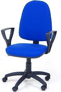 Poltrona Sedia da Ufficio Girevole per scrivania con braccioli tessuto cotone arancio arancione