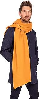 likemary Mens Merino Wool Oversize Scarf Travel Blanket Wrap Ethical & Handwoven Kasa 100 x 200cm