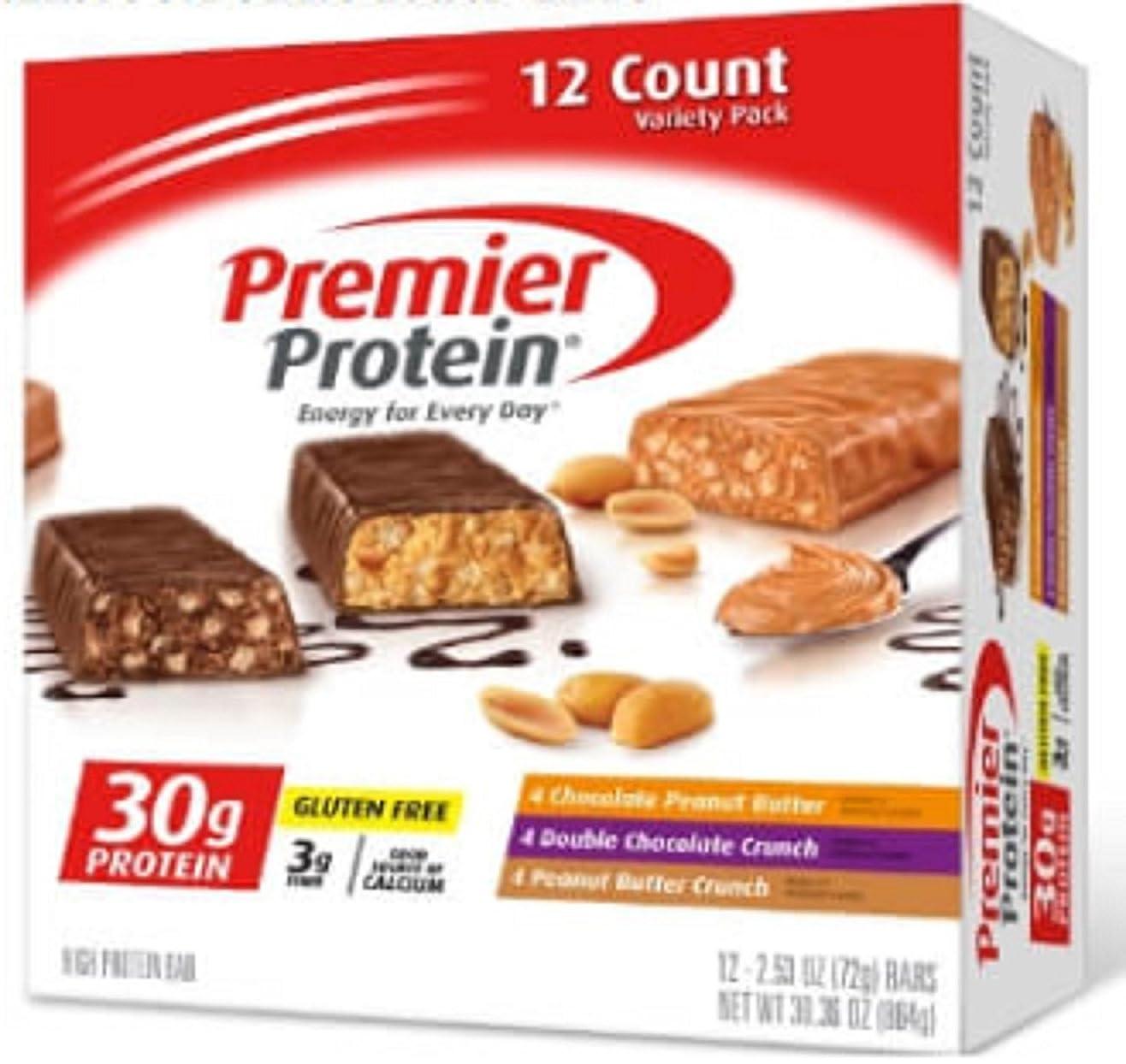 土地ロボットバリケード【2箱セット】Premier Protein プレミア プロテイン プロテインバー バラエティパック(72g x 12本入り x 2箱)