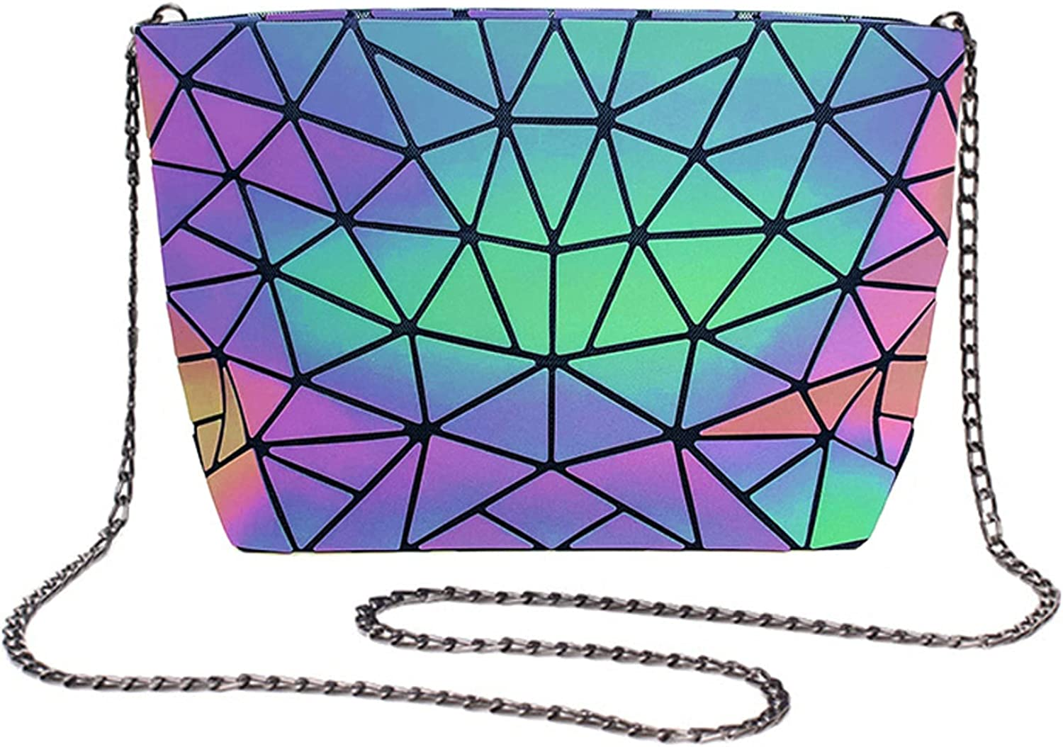 Crossbody Bags For Women Color Changes Chain Luminous Geometric Purse Clutch Girls Evening Bags Lady