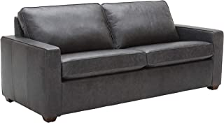 Rivet Andrews Contemporary Leather Sofa with Removable Cushions, 82