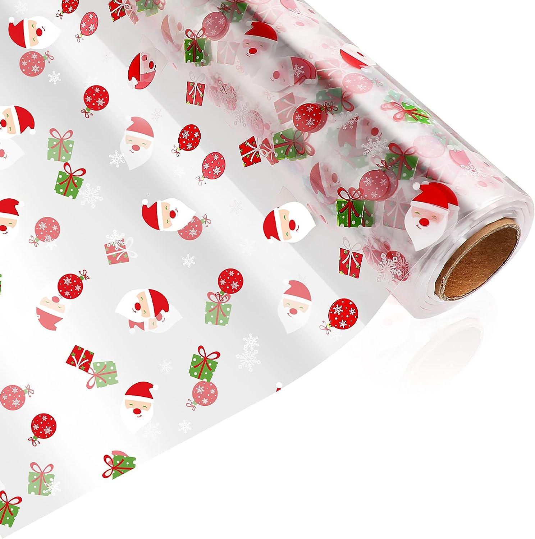 TOYANDONA Christmas Cellophane Wrap Claus Roll Popular Santa Price reduction
