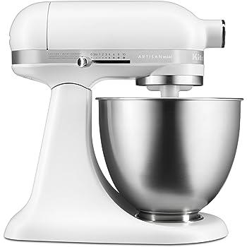 KitchenAid Artisan Mini シリーズ チルトヘッドスタンドミキサー 3.5クォート 3.5クォート ホワイト 607993-KSM3311XFW