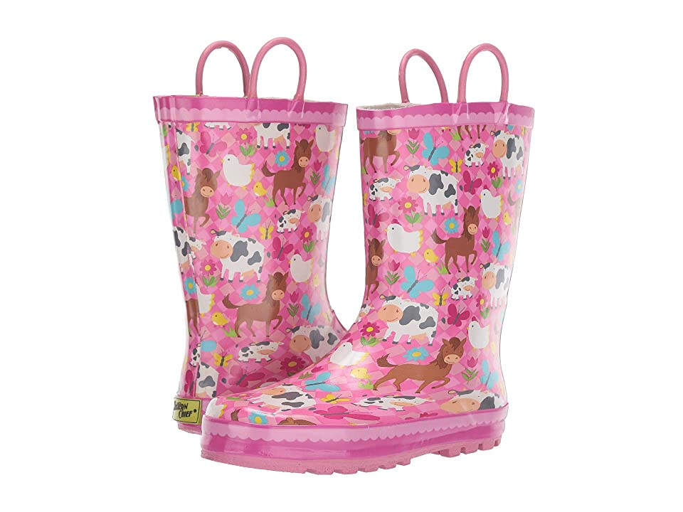 Western Chief Kids Limited Edition Printed Rain Boots (Toddler/Little Kid/Big Kid) (Pasture Pals Pink) Girls Shoes