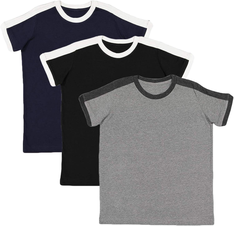 Marky G Apparel Boys' Soccer Ringer Short-Sleeve T-Shirt (Pack of 3)