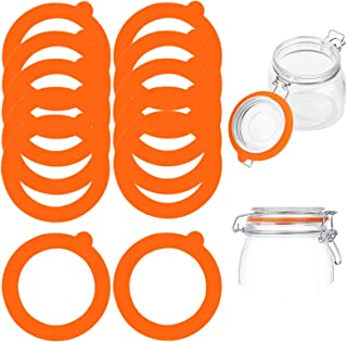 Stosts 12 Pack Silicone Replacement Gasket, Airtight Rubber Seals Rings for Mason Jar Lids, Leak-proof Canning Silicone Fi...