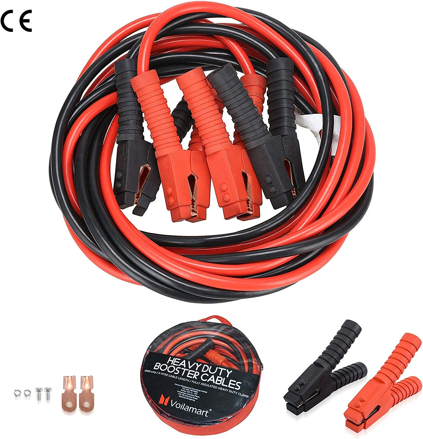 Voilamart Auto Jumper Cables security 2 Gauge 1200AMP Bag Oklahoma City Mall I 20Ft Carry w