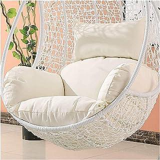 Cesta para colgar Cojines para sillas con forma de huevo Cojines de mimbre para colgar en forma de huevo Cojines para sillas con forma de huevo, antideslizantes y suaves Cojín para silla oscilante si