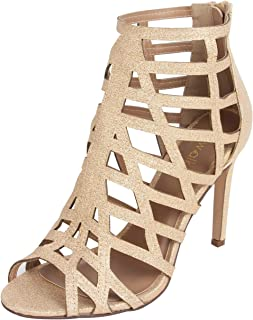 Catwalk Women's Shimmer Cut Out Sanals