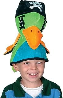 Plush Pirate Parrot Hat Party Accessory (1 count) (1/Pkg)