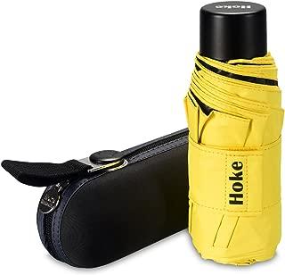 Hoke 8-Rib Mini Compact Pocket Umbrella. Windproof & Lightweight Travel Umbrella. UV Protection Parasol.