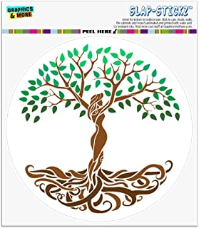 Graphics and More Tree of Life Mother Nature Automotive Car Window Locker Circle Bumper Sticker