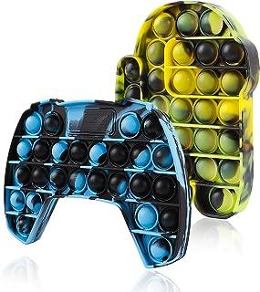 2 بسته Push Pop Bubble Fidget Toy، Popit Popper It Popitz Figetget Sensory Poop Pot Po Pops Poppop Popet Popitsfidgets Tous Figit Fijet Figut ADHD Tie Dye Green