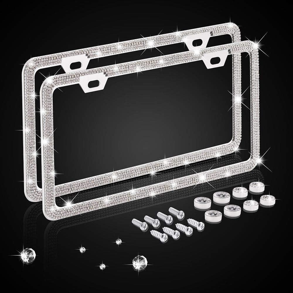 Nomiou Bling Memphis Mall Narrow License Plate Handmade Waterpro Frame Luxury 100% quality warranty!