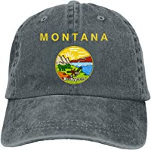 JKJS LDFO Flag of Montana Logo Unisex Baseball Cap Cowboy Hat Dad Hats Trucker Hat