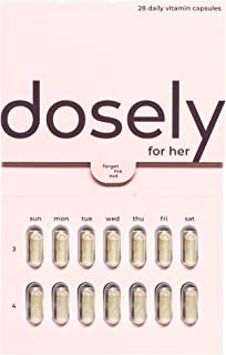 Dosely Women's Multivitamin | Plant-Based, Habit Friendly Vitamins | 22 Essential Vitamins & Minerals | Vegan, Non-GMO, Gl...