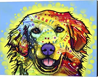 Golden Retriever by Dean Russo Canvas Art Wall Picture, Museum Wrapped with Black Sides, 20 x 16 inches