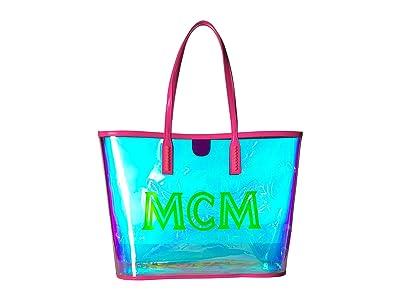 MCM Luccent Shopper Medium (Neon Pink) Handbags