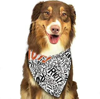 Riot Bandana Triangle Bibs Scarfs Accessories For Pet Cats And Puppies.Size Is About 27.6x11.8 Inches (70x30cm).