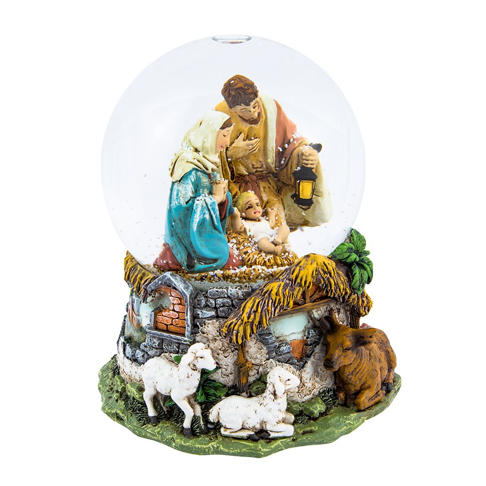 Image of Kurt Adler Musical Holy Family Nativity Water Globe