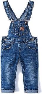 Kidscool Baby Ripped Denim Overalls,Toddler Little Kid Slim Cute Jean Pants