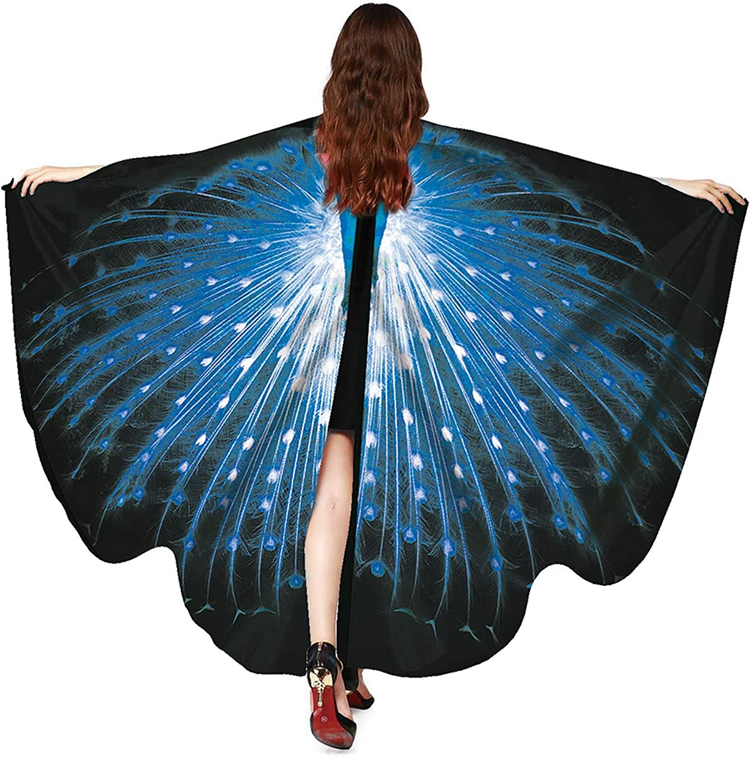 Multifit Womens Prop Soft Fabric Butterfly Wing Shawl Fairy Ladies Holloween Costume Accessory Dance Wings