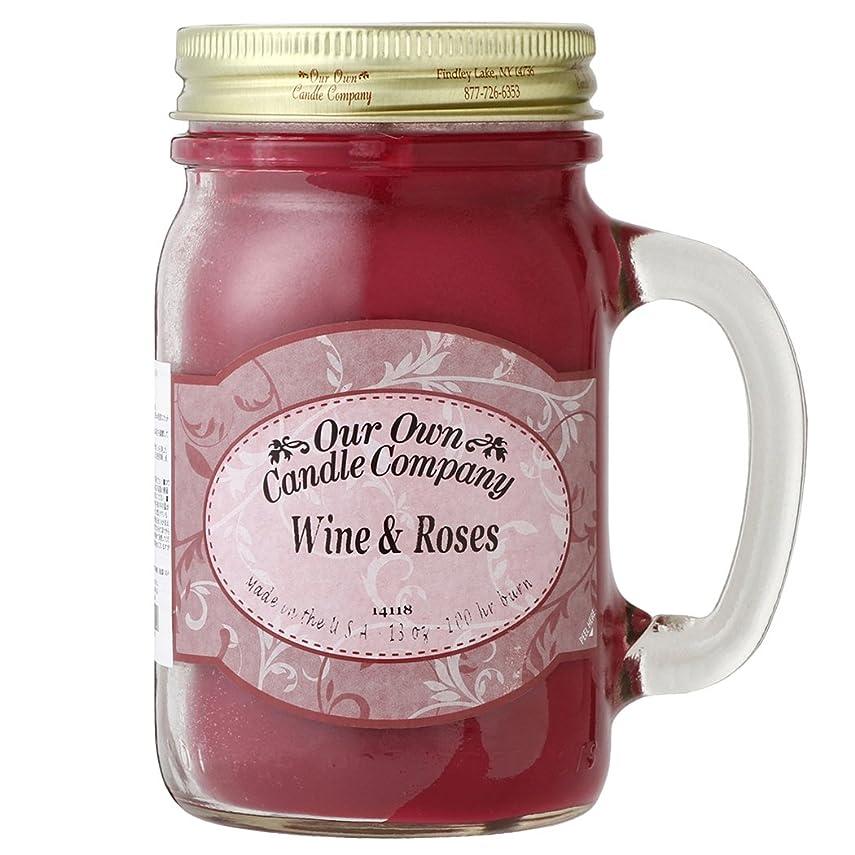 動の頭の上バスケットボールOur Own Candle Company メイソンジャーキャンドル ラージサイズ ワイン&ローズ OU100129