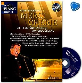Merci Chérie - Die 18 schönsten Lieder von Udo Jürgens - Livre de partitions avec CD et pince à partitions multicolores - Schott Music ED22780 9783795712198